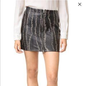 NWT Freepeople lambskin leather miniskirt size 0